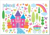 Enchanted Kingdom Peel & Stick Wall Decal Set
