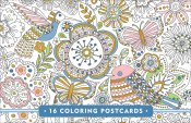 Blooms, Birds, & Butterflies Coloring Postcards