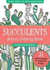 Portable Coloring Book: Succulents