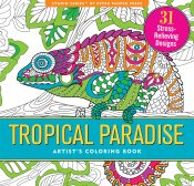 Tropical Paradise Adult Coloring Book
