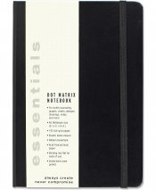Essentials Dot Matrix Notebook, Large, A5 Size