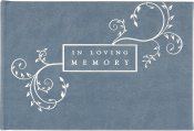 IN LOVING MEMORY GUEST BOOK (Blue)
