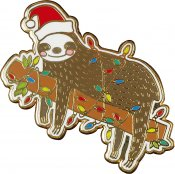 Festive Sloth Hard Enamel Pin