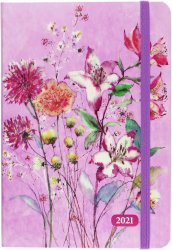 2021 Purple Wildflowers Weekly Planner