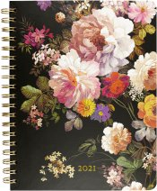 2021 Midnight Floral Desk Calendar